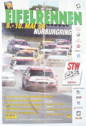 NURBURGRING 1998 May 8-10 EIFELRENNEN (Touring Cars)  original poster.
